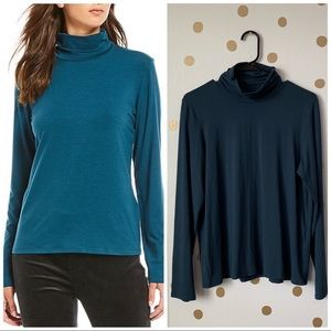 Eileen Fisher Scrunch Turtleneck Top